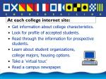 at each college internet site