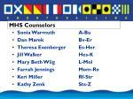mhs counselors