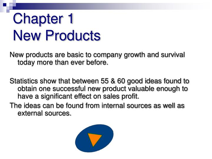 Chapter 1 new products