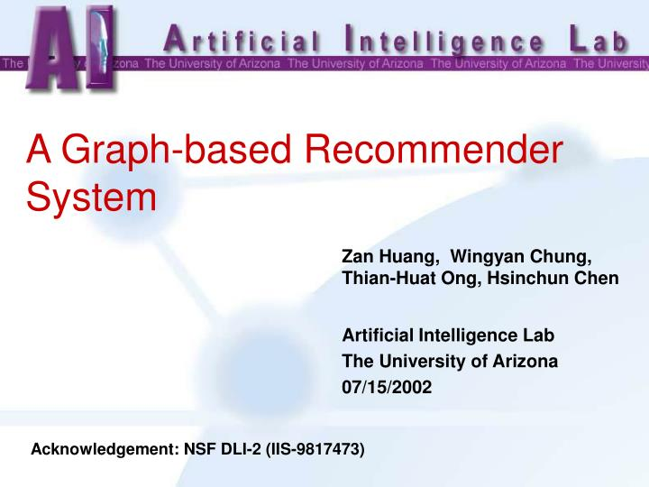 a graph based recommender system n.