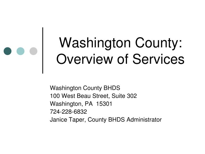 washington county overview of services n.