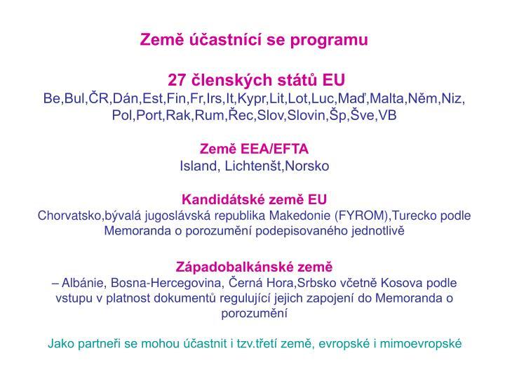 Země účastnící se programu