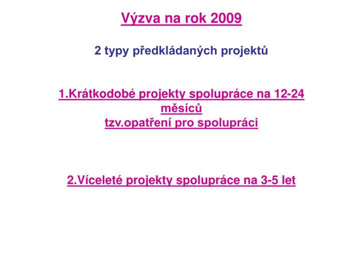 Výzva na rok 2009