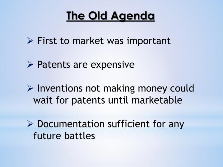 The Old Agenda