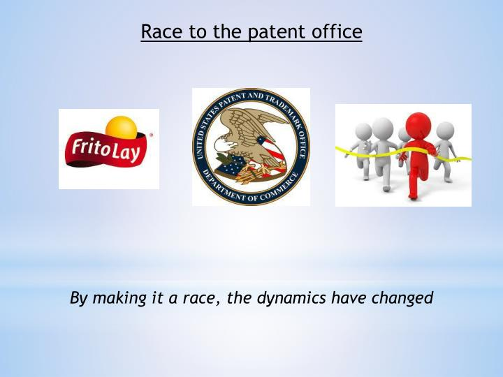 Race to the patent office