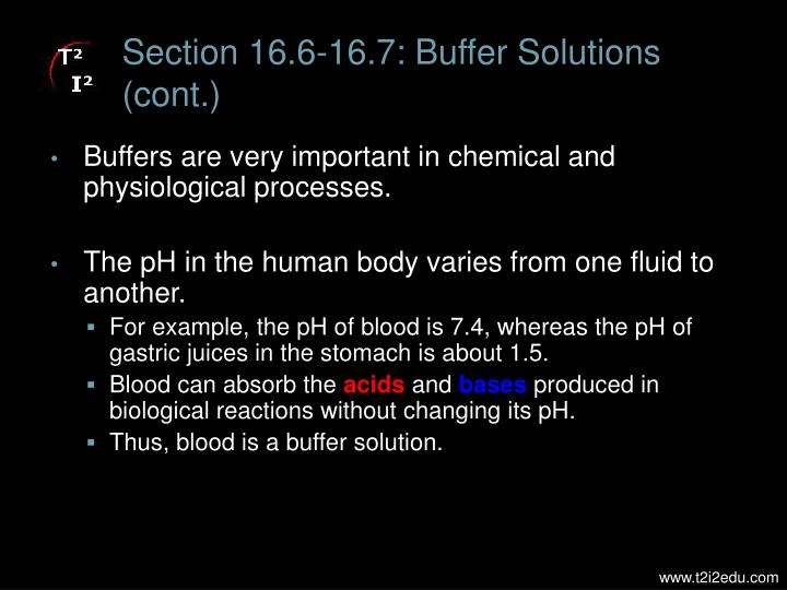 Section 16.6-16.7: Buffer Solutions (cont.)