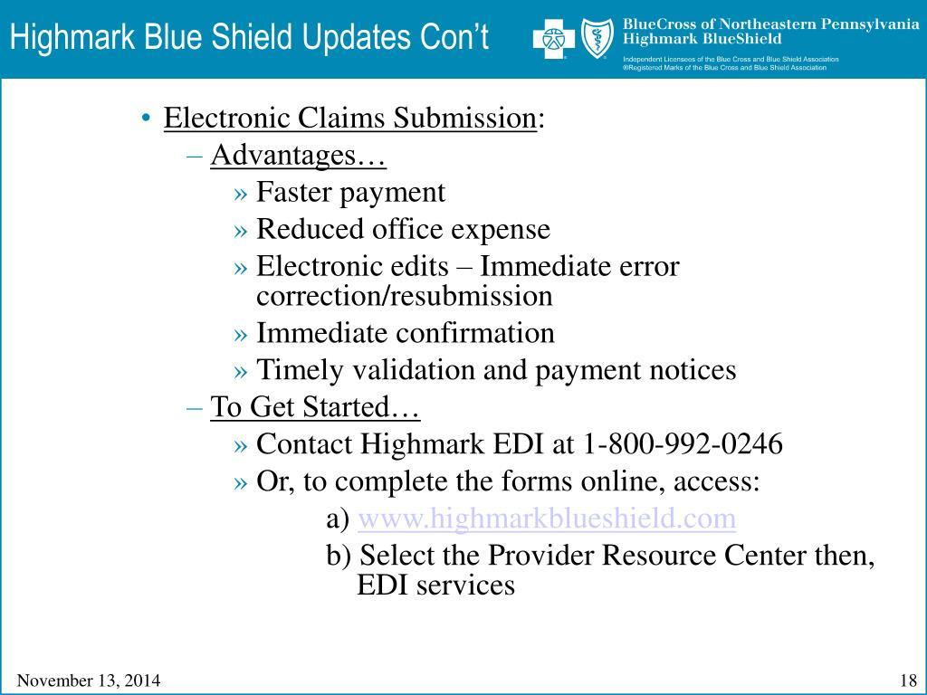 PPT - Blue Cross of Northeastern Pennsylvania, First