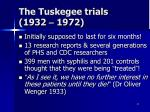 the tuskegee trials 1932 1972