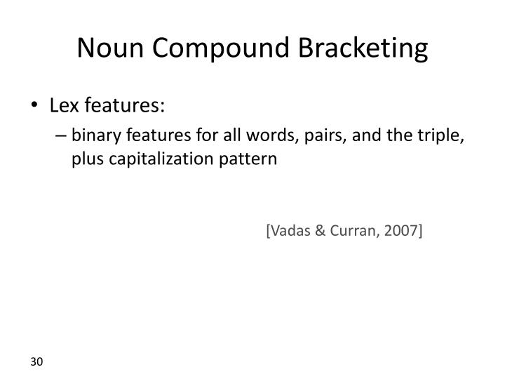 Noun Compound Bracketing