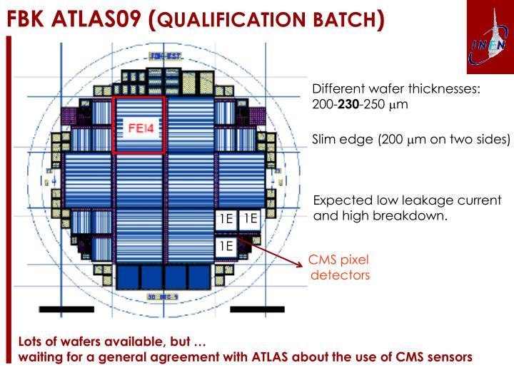 Fbk atl a s09 qualification batch