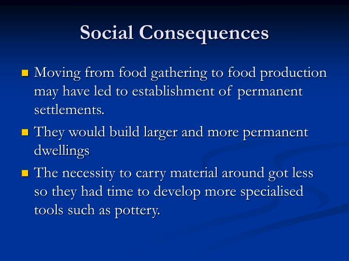 Social Consequences