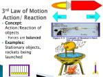 3 rd law of motion action reaction