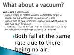 what about a vacuum