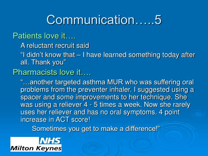 Communication…..5
