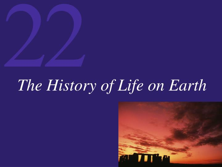 the history of life on earth n.