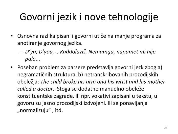 Govorni jezik i nove tehnologije
