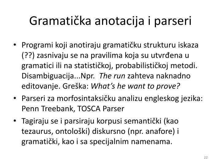 Gramatička anotacija i parseri