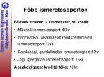 f bb ismeretcsoportok