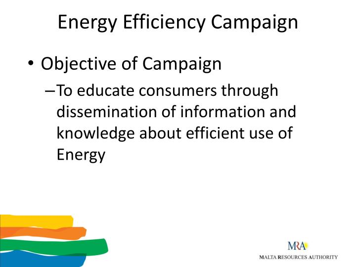 Energy efficiency campaign