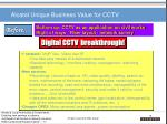 alcatel unique business value for cctv