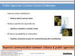 public agencies contact center challenges