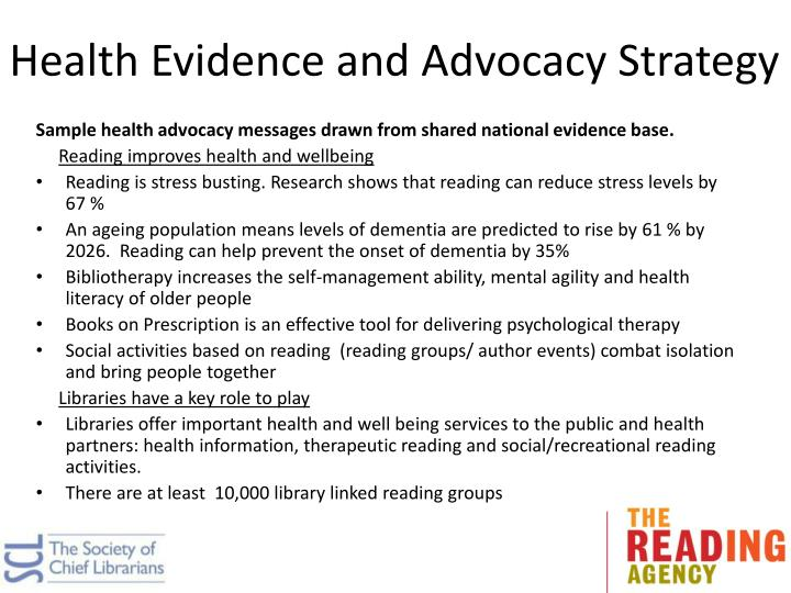 Health Evidence and Advocacy Strategy