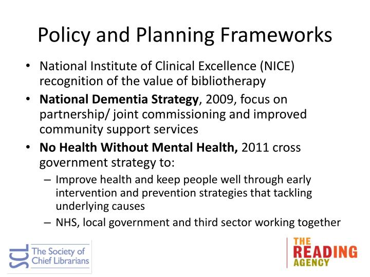 Policy and Planning Frameworks