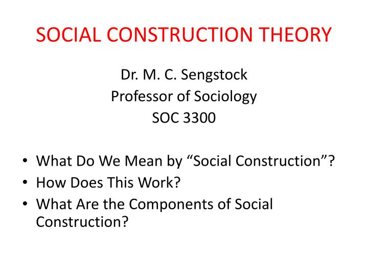 social construction theory n.