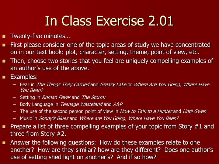 In Class Exercise 2.01