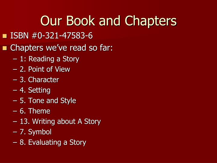 Our Book and Chapters