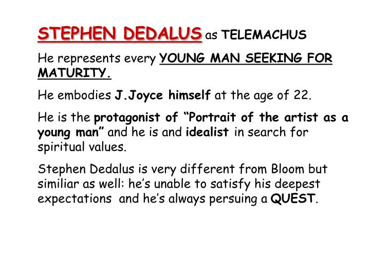 an analysis of the importance of the character of stephen dedalus in the writings of james joyce An analysis of the short story 'the dead  that is the reason why i decided to place the biography of james joyce before my analysis  stephen dedalus says.