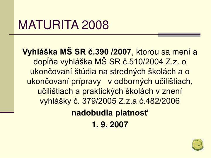 Maturita 20081