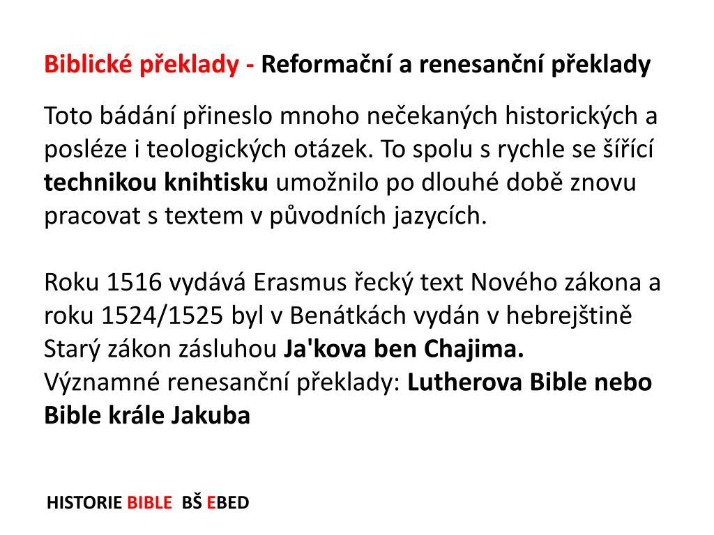 datování biblických veršů