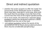 direct and indirect quotation