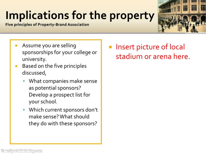 Implications for the property