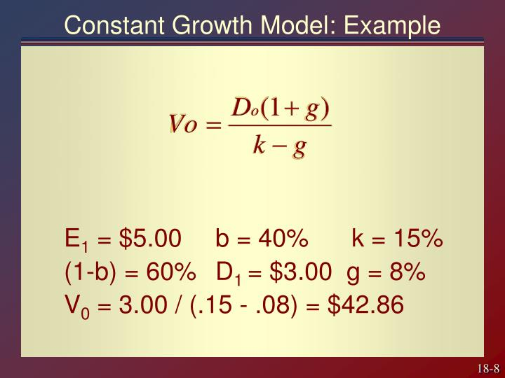 Constant Growth Model: Example