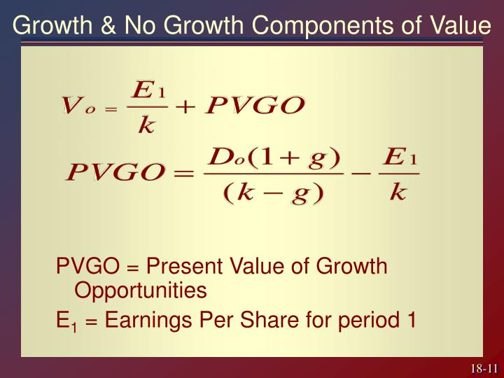 Growth & No Growth Components of Value