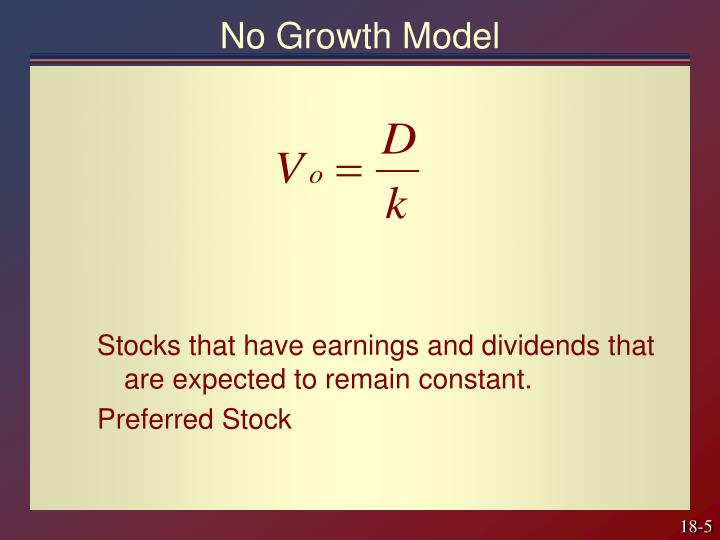 No Growth Model