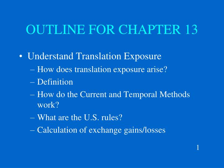 outline for chapter 13 n.