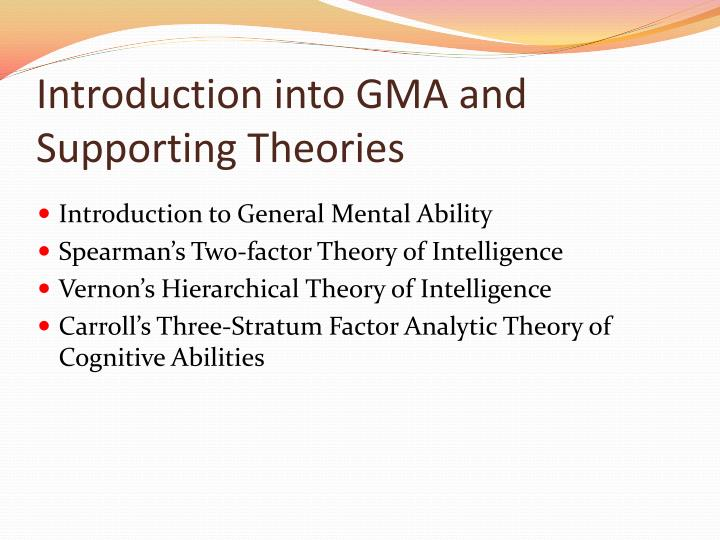 factor theory of intelligence