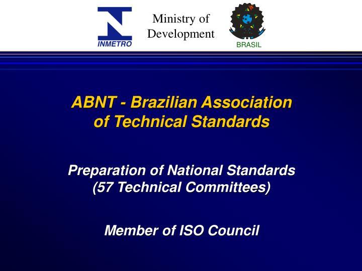 Preparation of National Standards