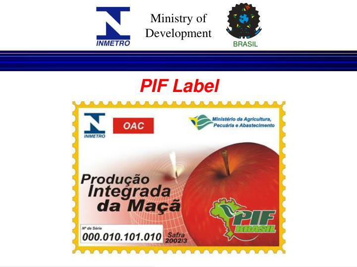 PIF Label