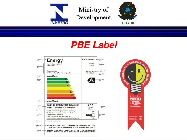 PBE Label