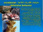 crustacean defensive behavior