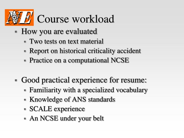 Course workload