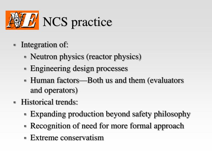 NCS practice