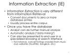 information extraction ie