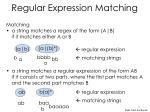 regular expression matching1