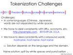 tokenization challenges