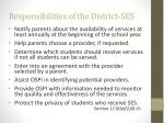 responsibilities of the district ses